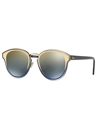 Dior DiorNightFall Round Sunglasses, Multi/Mirror Grey