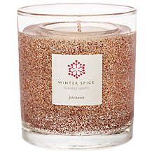 Buy John Lewis Medium Copper Glitter Gel Candle Online at johnlewis.com