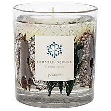 Buy John Lewis Frosted Spruce Gel Medium Candle Online at johnlewis.com