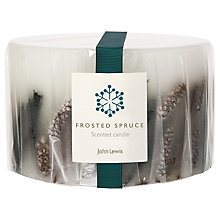 Buy John Lewis Frosted Spruce Inclusion 3 Wick Candle Online at johnlewis.com