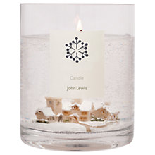 Buy John Lewis Snow Scene Large Candle Online at johnlewis.com