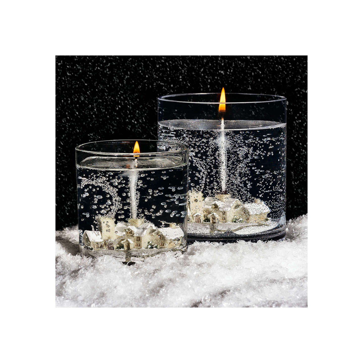 BuyJohn Lewis Snow Scene Large Candle, Green/Ivory Online at johnlewis.com