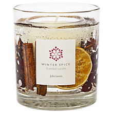 Buy John Lewis Winter Spice Gel Medium Candle Online at johnlewis.com