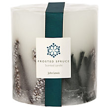 Buy John Lewis Frosted Spruce Inclusion Candle Online at johnlewis.com