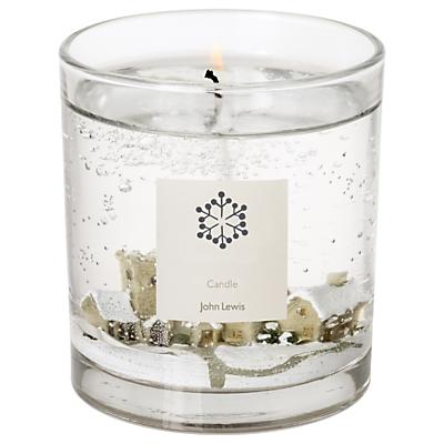 John Lewis Snow Scene Medium Candle
