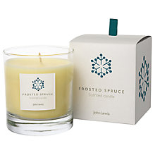 Buy John Lewis Frosted Spruce Candle In Box Online at johnlewis.com