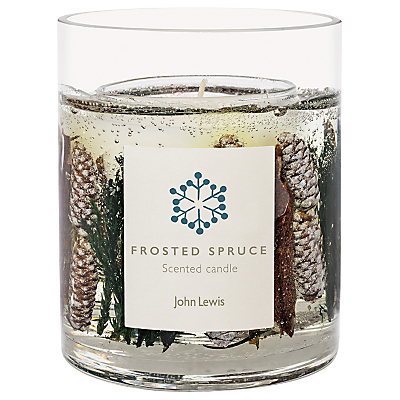 John Lewis Frosted Spruce Gel Large Candle
