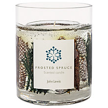 Buy John Lewis Frosted Spruce Gel Large Candle Online at johnlewis.com