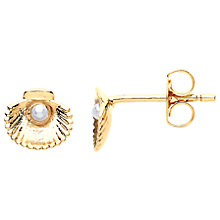 Buy Estella Bartlett Shell and Faux Pearl Stud Earrings, Rose Gold Online at johnlewis.com
