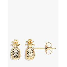 Buy Estella Bartlett Pineapple Stud Earrings, Gold Online at johnlewis.com