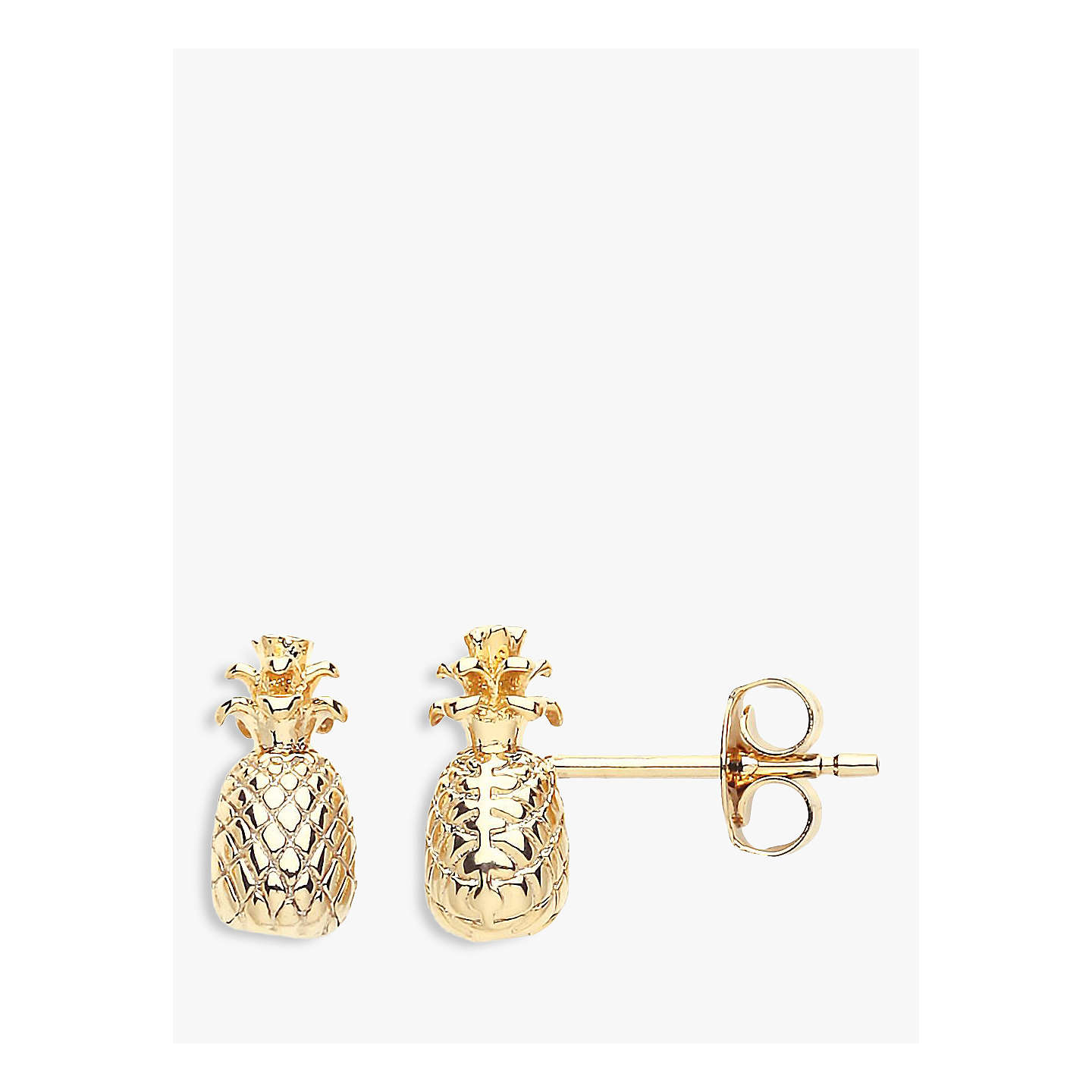 plated gold amanda vermeil mini pineapple stud earrings coleman
