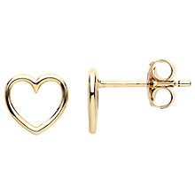 Buy Estella Bartlett Small Heart Stud Earrings, Gold Online at johnlewis.com