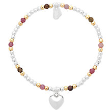 Buy Estella Bartlett Sienna Heart Beaded Bracelet, Silver/Multi Online at johnlewis.com