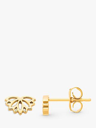 Estella Bartlett Lotus Stud Earrings, Gold
