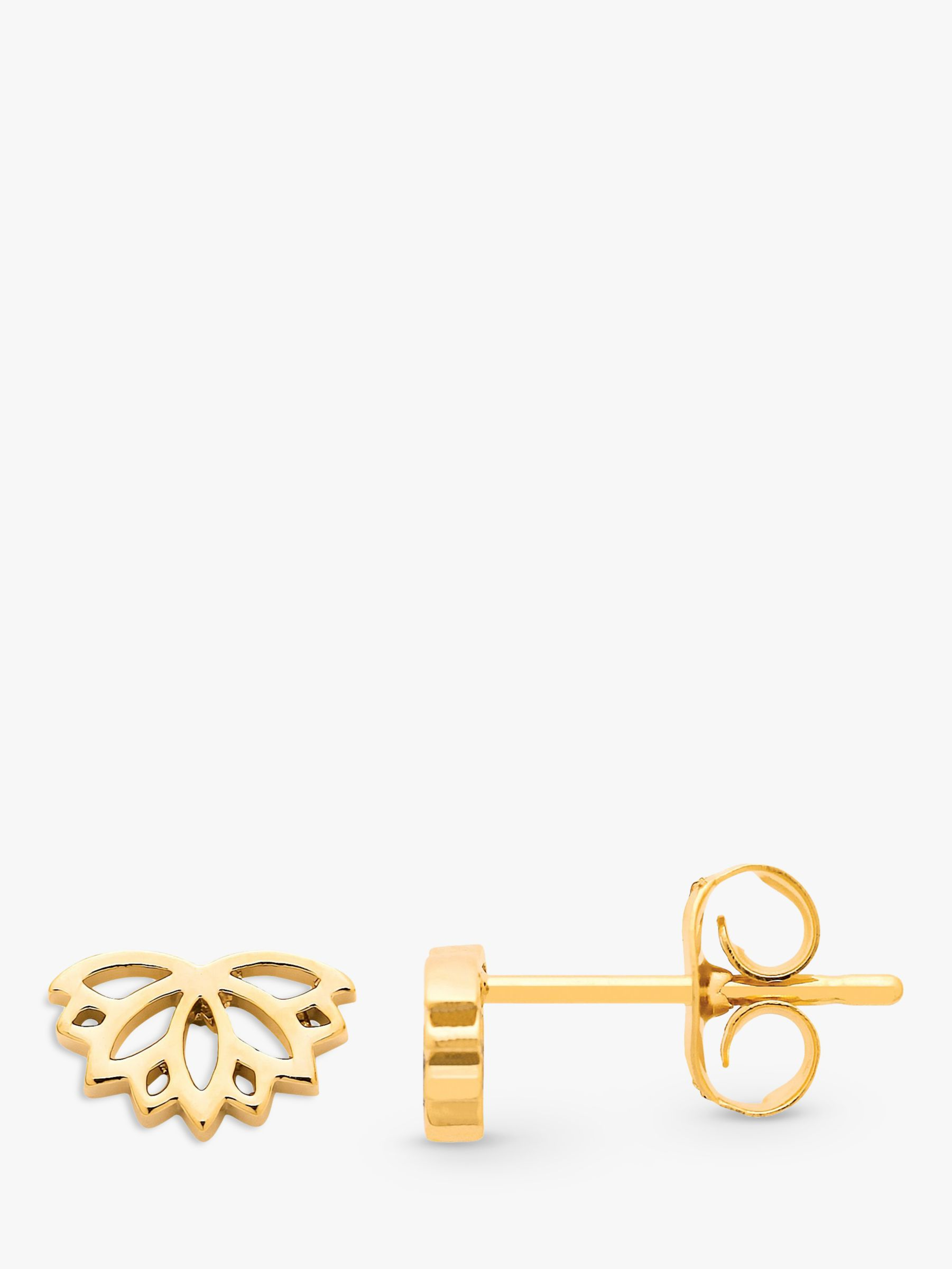Estella Bartlett Estella Bartlett Lotus Stud Earrings, Gold