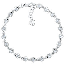 Buy Jools by Jenny Brown Round Cubic Zirconia Bracelet, Silver Online at johnlewis.com