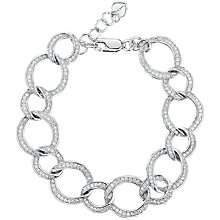 Buy Jools by Jenny Brown Cubic Zirconia Open Work Link Bracelet, Silver Online at johnlewis.com