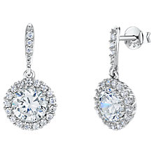 Buy Jools by Jenny Brown Cubic Zirconia Round Drop Earrings, Silver Online at johnlewis.com