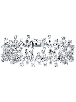 Jools by Jenny Brown Abstract Cubic Zirconia Bracelet, Silver