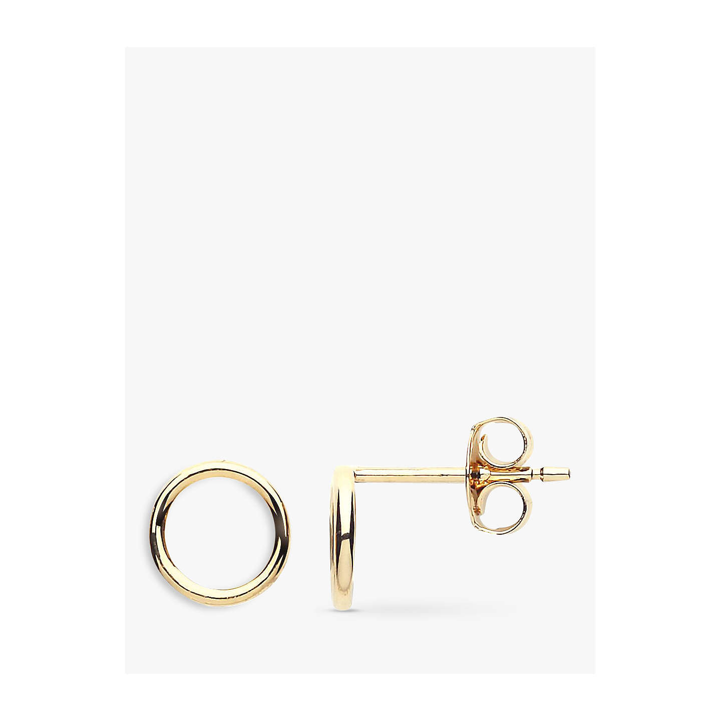 open boutique happiness en stud earrings circle gold
