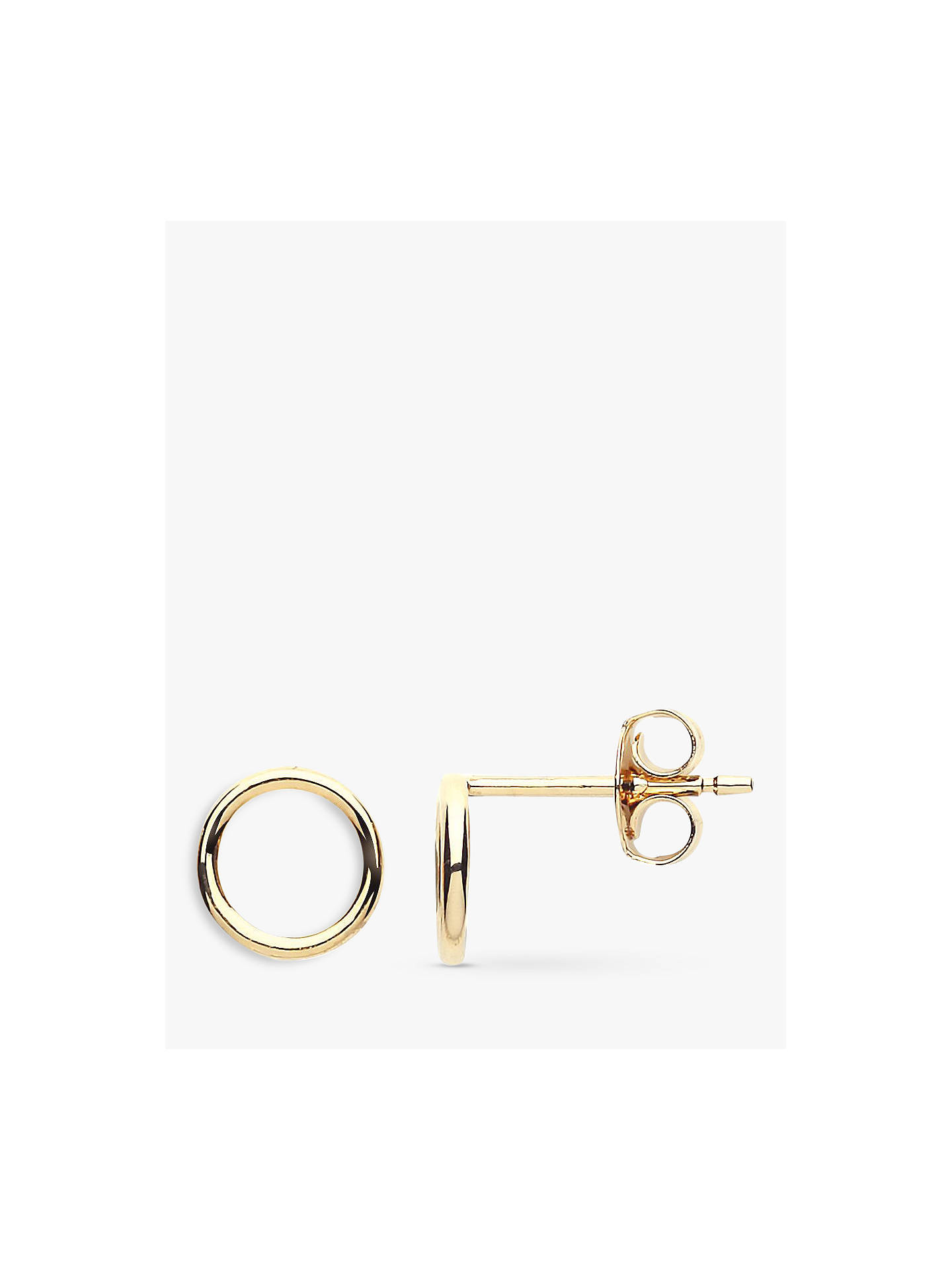Estella Bartlett Open Circle Stud Earrings Gold Online At Johnlewis