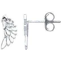 Buy Estella Bartlett Wings Stud Earrings, Silver Online at johnlewis.com