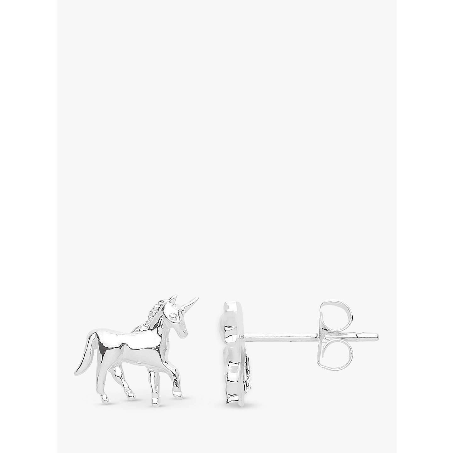 BuyEstella Bartlett Unicorn Stud Earrings, Silver Online at johnlewis.com