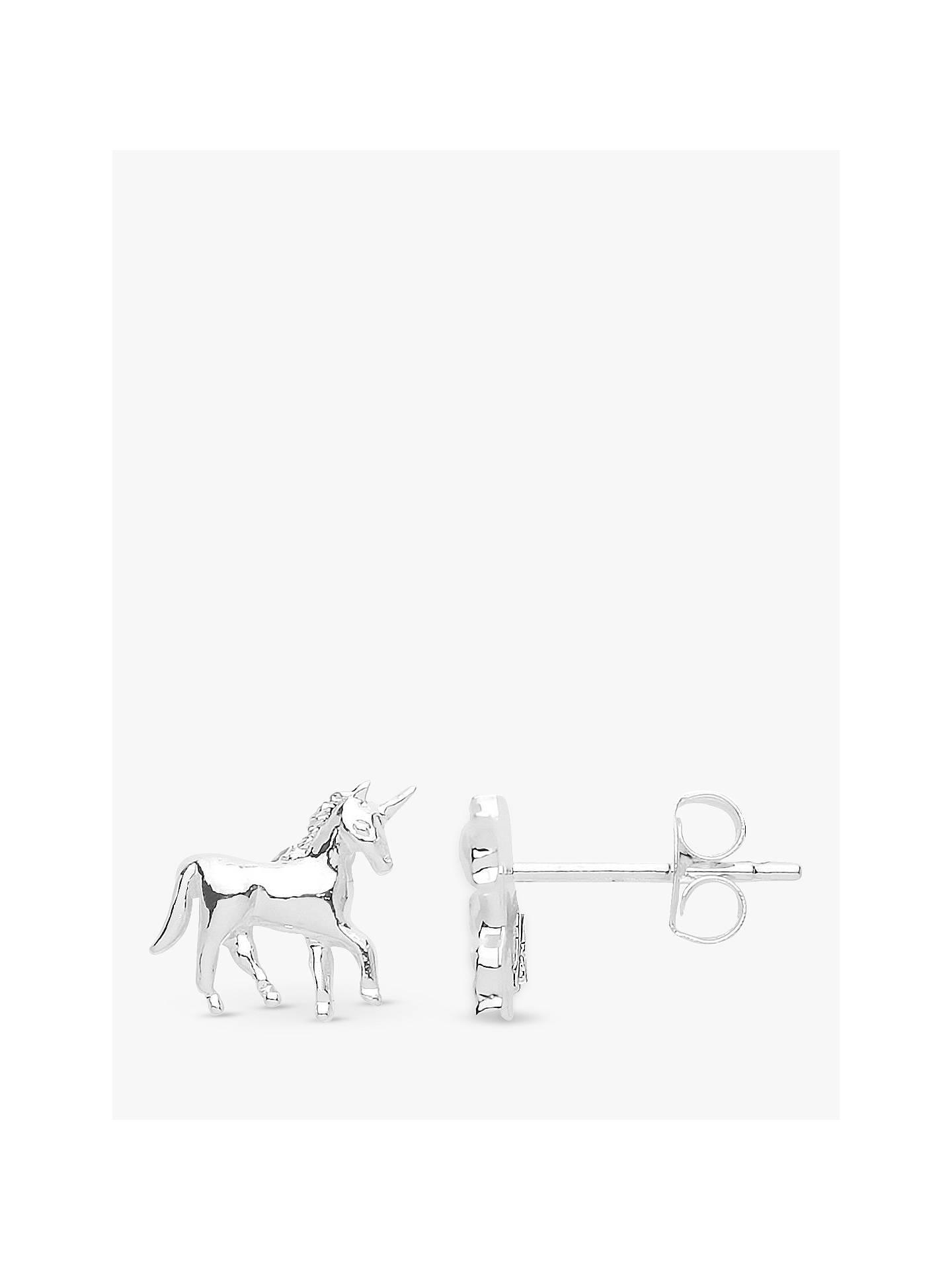 6c647f1d1 Buy Estella Bartlett Unicorn Stud Earrings, Silver Online at johnlewis.com