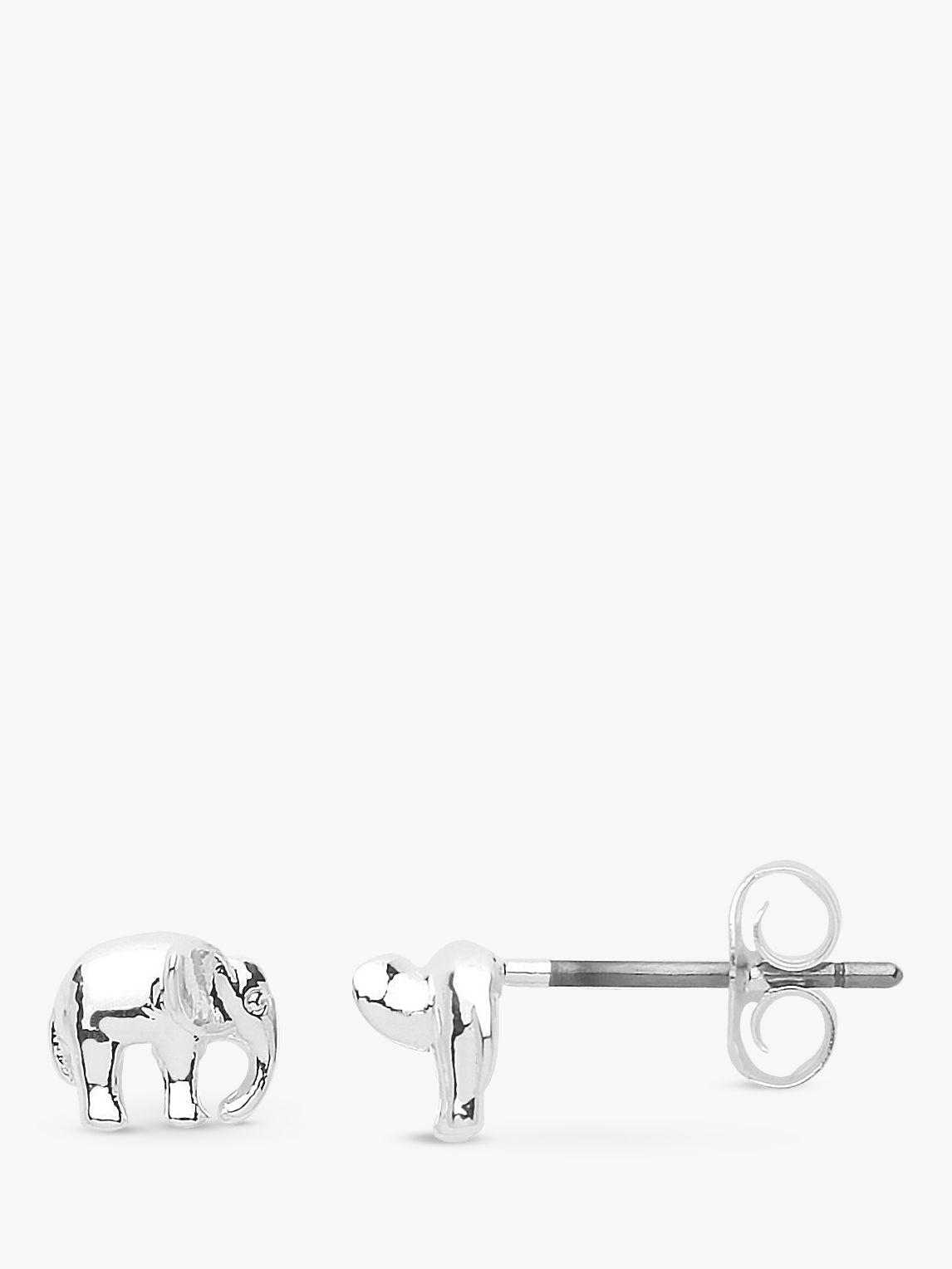 Estella Bartlett Estella Bartlett Elephant Stud Earrings, Silver