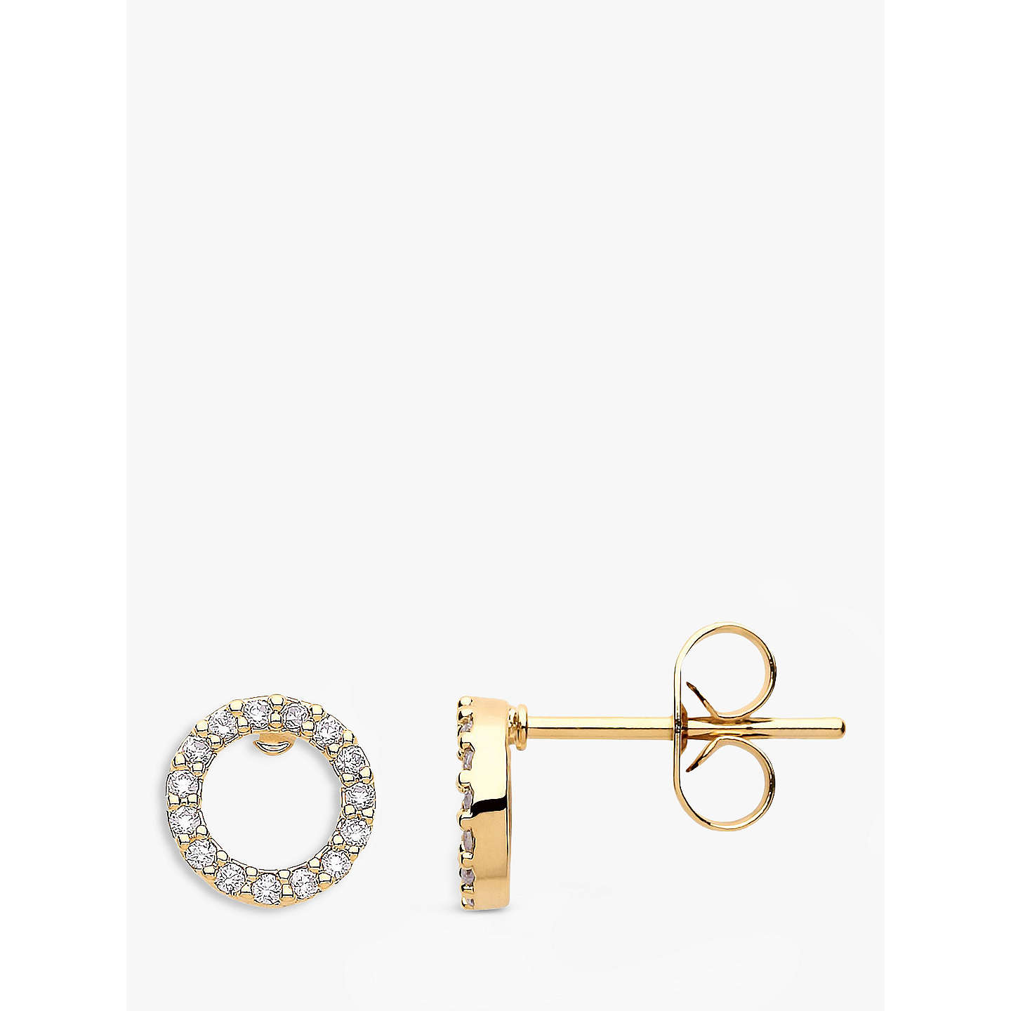boutique open circle en stud earrings gold happiness