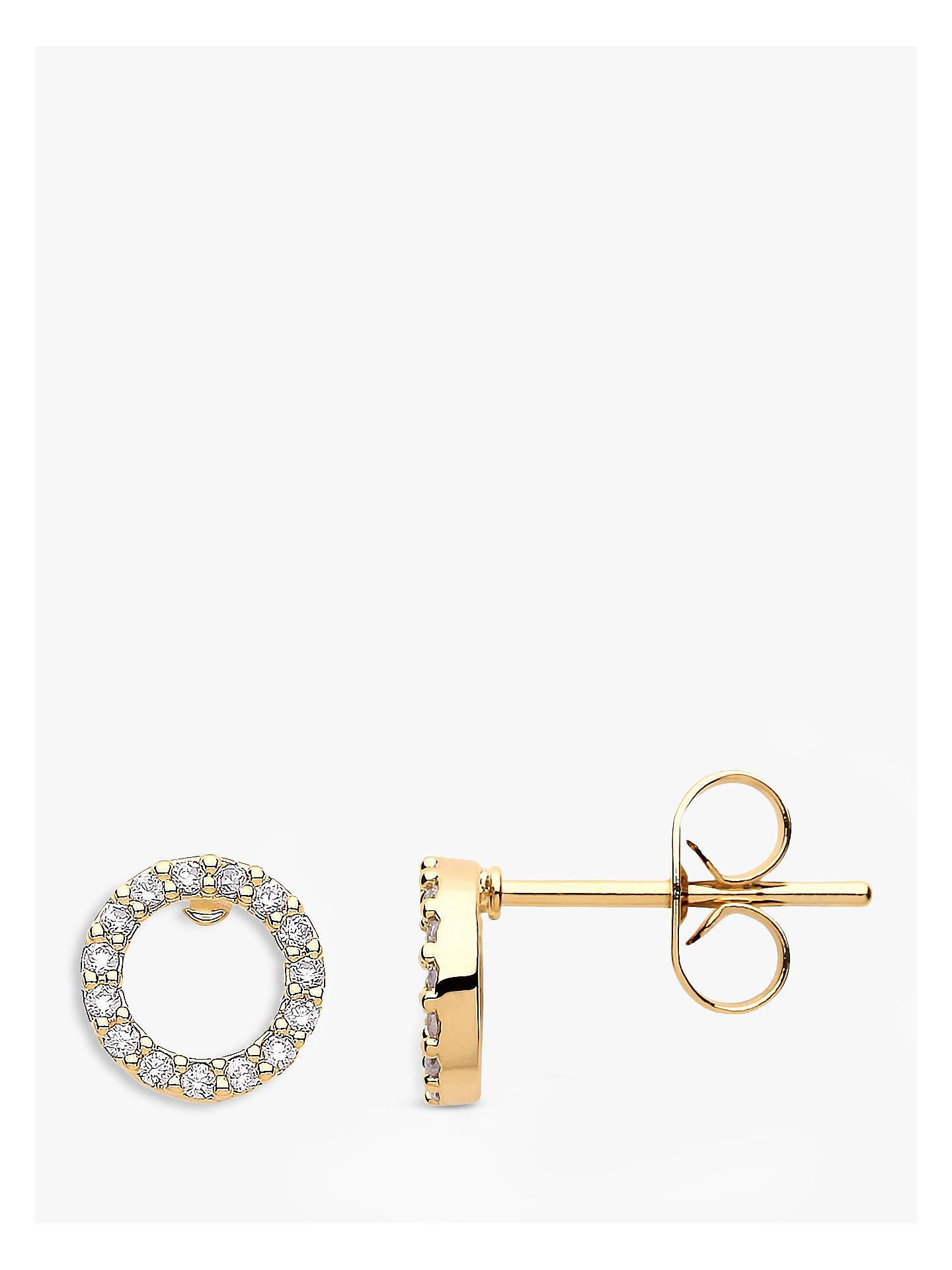 3c2f0b853488 Buy Estella Bartlett Cubic Zirconia Open Circle Stud Earrings, Gold Online  at johnlewis.com