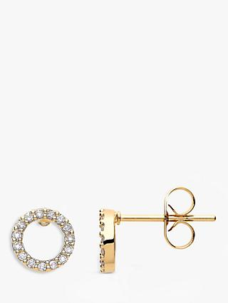 Estella Bartlett Cubic Zirconia Open Circle Stud Earrings, Gold