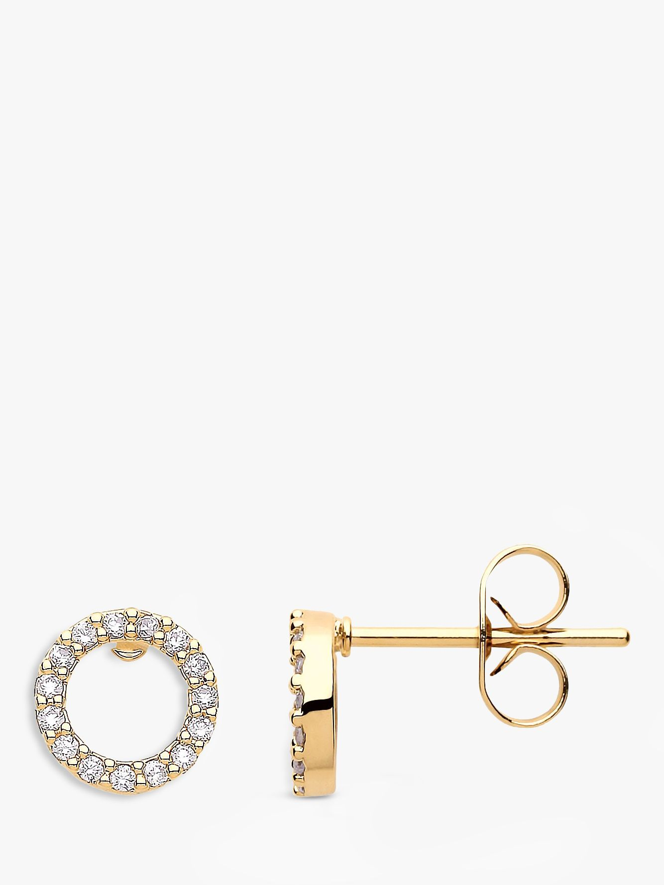 Estella Bartlett Estella Bartlett Cubic Zirconia Open Circle Stud Earrings, Gold