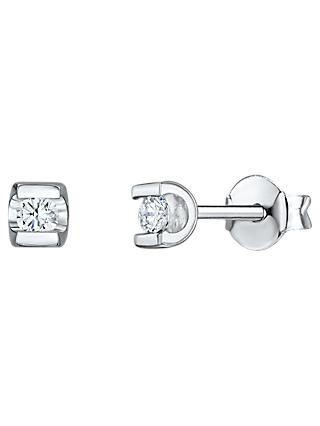 Jools by Jenny Brown Cubic Zirconia Square Stud Earrings, Silver