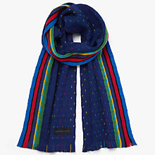 Buy PS by Paul Smith Stripe Dot Scarf, Navy Online at johnlewis.com