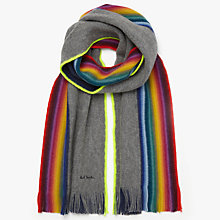 Buy PS by Paul Smith Raschel Rainbow Edge Scarf Online at johnlewis.com