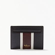 Buy Mulberry College Stripe Leather Wallet, Oxblood Online at johnlewis.com
