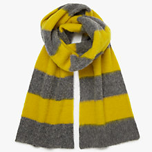 Buy PS Paul Smith Two Stripe Scarf, Grey/Yellow Online at johnlewis.com