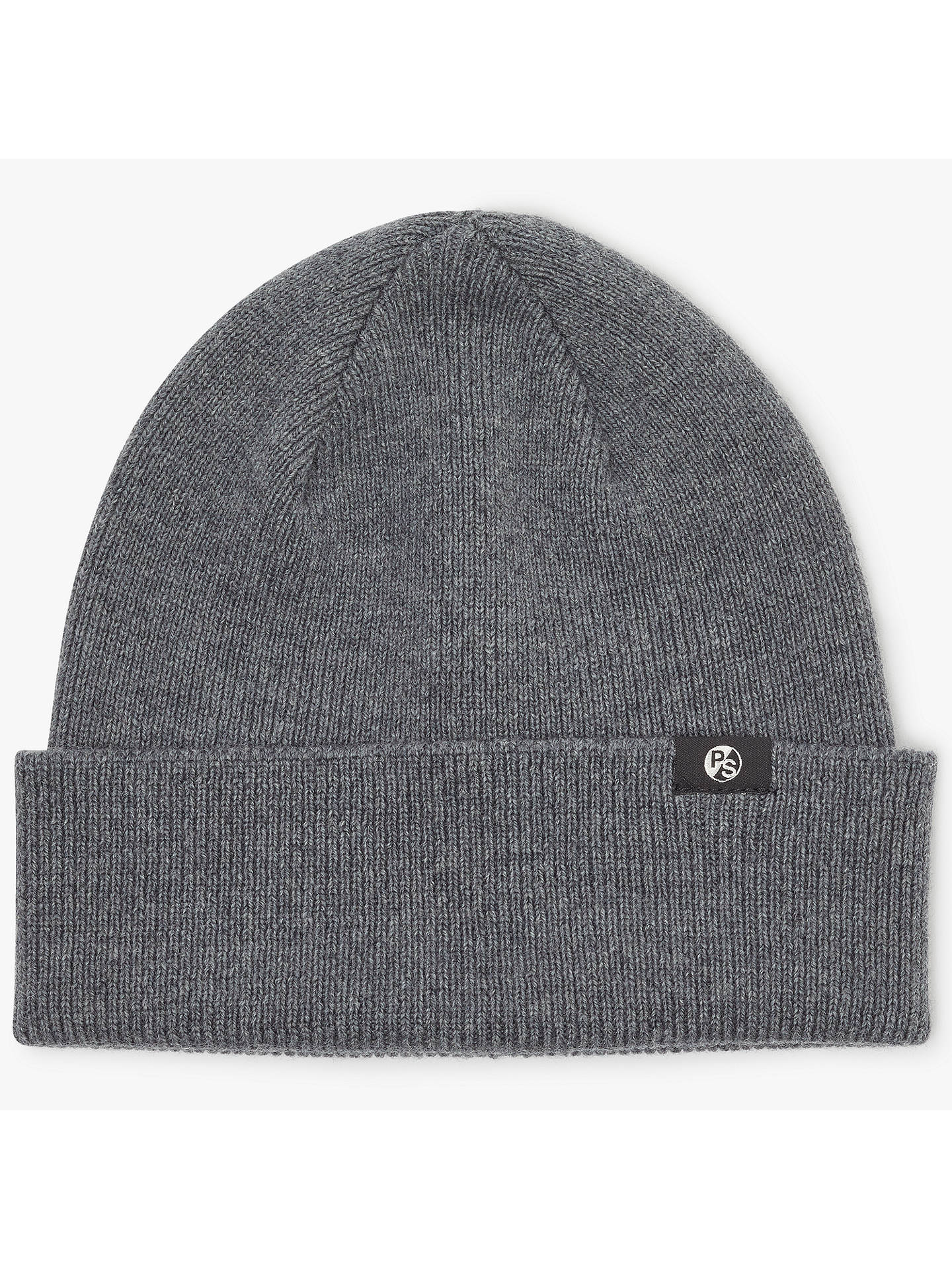 b8bfb80cca320a Buy Paul Smith Merino Wool Beanie Hat, One Size, Grey Online at johnlewis.