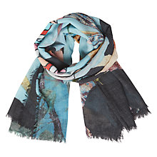 Buy Becksondergaard Lorina Wool Scarf, Blue Topaz Online at johnlewis.com