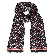 Buy Becksondergaard Heartkey Scarf, Black Online at johnlewis.com