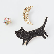Buy Des Petits Hauts Lours Cat, Moon and Star Badges, Multi Online at johnlewis.com