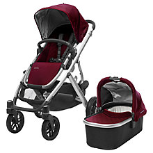 Buy Uppababy Vista 2017 Pushchair and Carrycot, Dennison Online at johnlewis.com