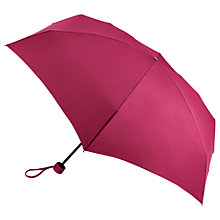 Buy Fulton Round Tiny Folding Umbrella, Burgundy Online at johnlewis.com