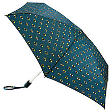 Buy Fulton Tiny Bees Folding Umbrella, Navy/Gold Online at johnlewis.com