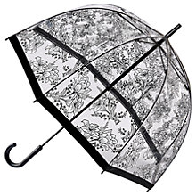 Buy Fulton Birdcage Floral Umbrella, Clear/Black Online at johnlewis.com