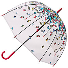 Buy Fulton Birdcage Raining Butterfly Umbrella, Clear/Multi Online at johnlewis.com
