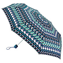 Buy Fulton Minilite Birds On A Wire Umbrella, Grey/Multi Online at johnlewis.com