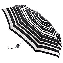 Buy Fulton Superlite Magic Stripe Folding Umbrella, Black/Multi Online at johnlewis.com