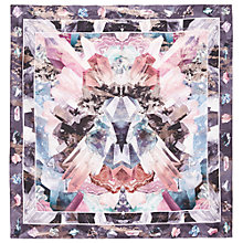 Buy Ted Baker Mirror Minerals Square Silk Scarf, Mid Grey Online at johnlewis.com